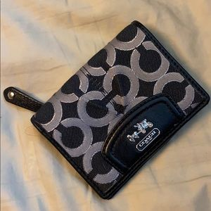 Coach grey signature wallet